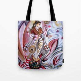 Musical Goddess Saraswati - Healing Art Tote Bag