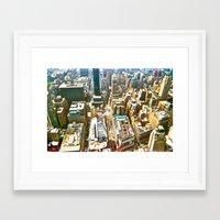 manhattan Framed Art Prints featuring Manhattan by McLane O'Daniell