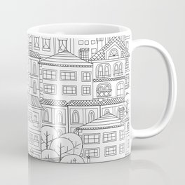 Doodle town pattern Coffee Mug