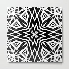 Black White   Leyana Metal Print
