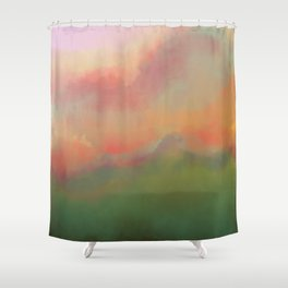 Fiery Morning Shower Curtain