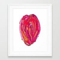 artsy Framed Art Prints featuring Artsy Heart by Ingrid Padilla