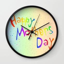 Happy Mothers Day Card Wall Clock