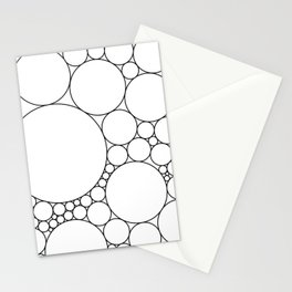 Geometric Abstract - Circles (Black) Stationery Cards