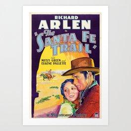 Classic Movie Poster - The Santa Fe Trail Art Print