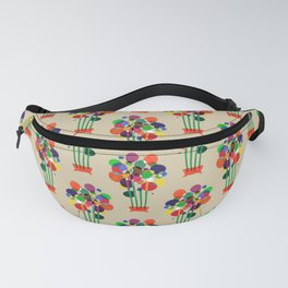 Happy flowers in the vase Fanny Pack