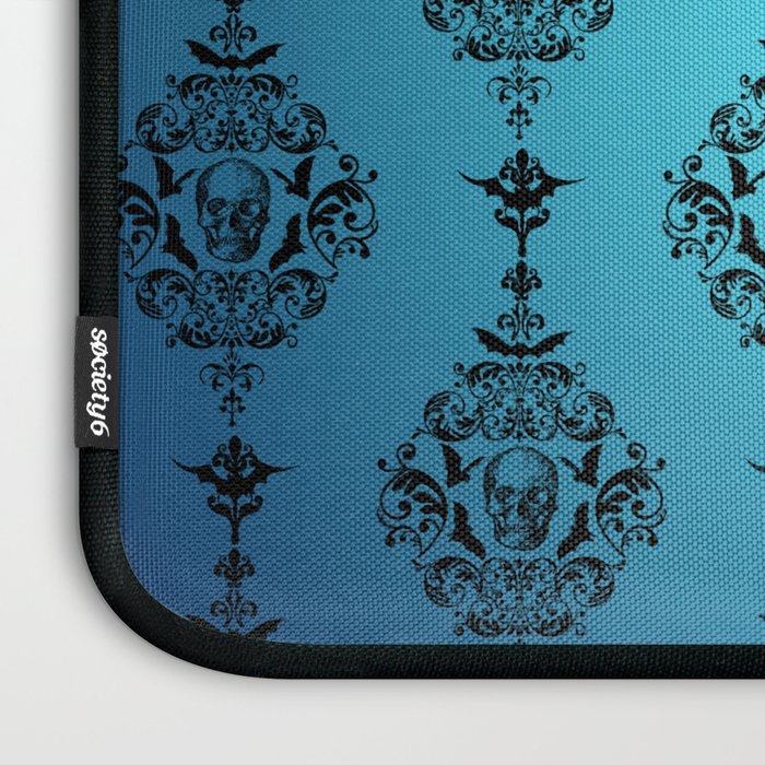 Skulls and Bats and Damask, Oh My! Laptop Sleeve