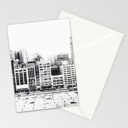 Woodward Avenue Downtown Detroit Black and White Print Stationery Cards