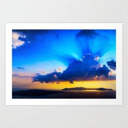 Angel sky Art Print