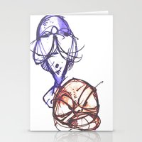 ying yang Stationery Cards featuring Ying & Yang by Nerve