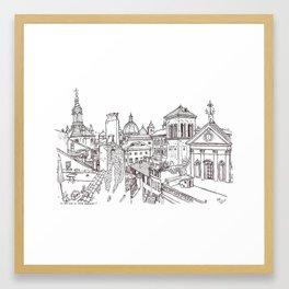 Rome Apartment View, Italy Framed Art Print