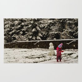 Seattle in snow Rug