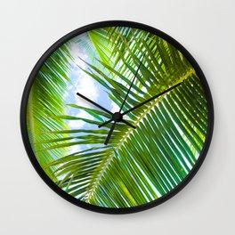 Aloha Lāhainā Palms Maui Hawaii Wall Clock
