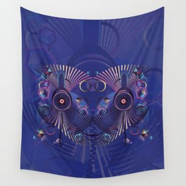 Stylized sound speaker with geometric elements Wall Tapestry