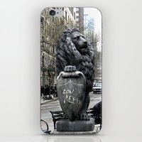 lou reed iPhone & iPod Skins featuring Lou Reed Lion by Jack O'Dowd