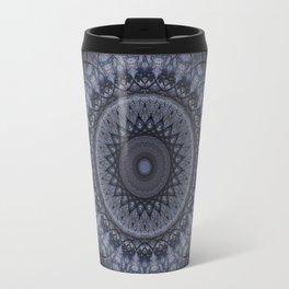 Dark gray mandala Travel Mug