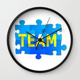 Team Jigsaw Puzzle Wall Clock
