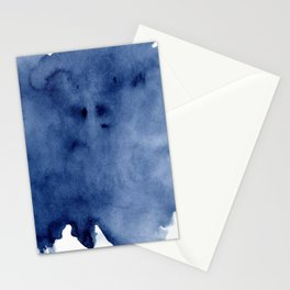 Indigo Brush Strokes Stationery Cards