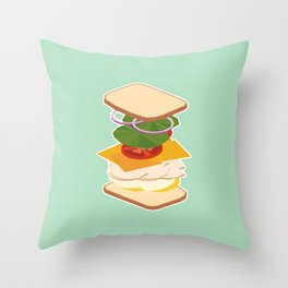 Sammich Stack Throw Pillow