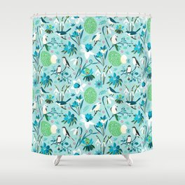 Finally Easter! [blue'n rose] Shower Curtain