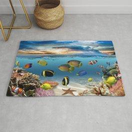 Underwater Ocean Tropical Coral Reef Rug