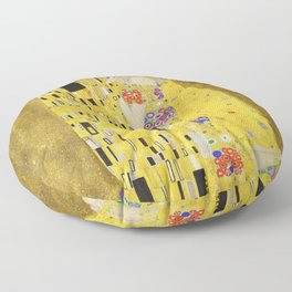 The Kiss - Gustav Klimt, 1907 Floor Pillow