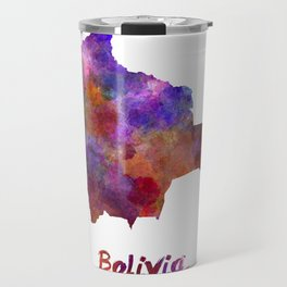 Bolivia in watercolor Travel Mug