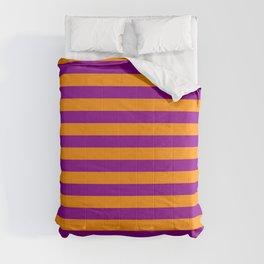 Dark Orange and Dark Magenta Lines/Stripes Pattern Comforters