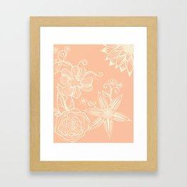 Zentagle Floral Framed Art Print