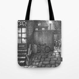 Backyard night Tote Bag