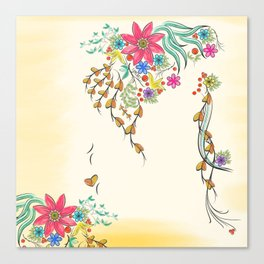 Vibrant Floral to Floral Canvas Print