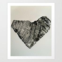 75 Year Heart Art Print