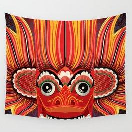 Sri Lankan Fire Demon Wall Tapestry
