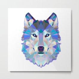 Wolf Animals Poly Metal Print