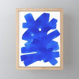 Superwatercolor Blue Framed Mini Art Print