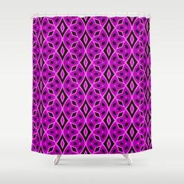 Purple Braids and Diamonds Shower Curtain