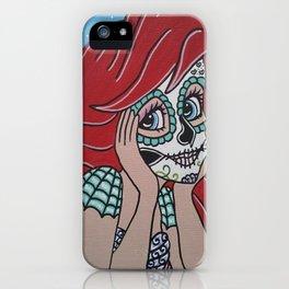 Ariel Sugar Skull 2 iPhone Case