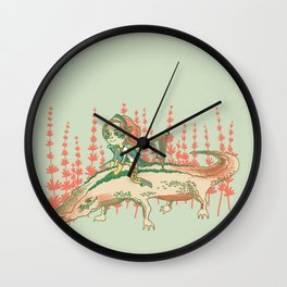 The Alligator Wall Clock