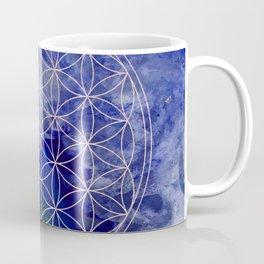 indigo agate with rose gold flower of life Coffee Mug