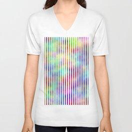 Colour Strips. Fashion Textures Unisex V-Neck
