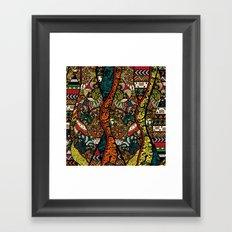 Ethnic Pug Framed Art Print