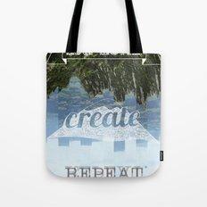 Explore Create Repeat Tote Bag