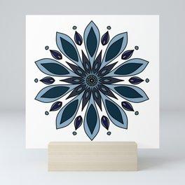 Blue knapweed flower Mini Art Print