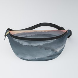 Mountains Sunset Fanny Pack