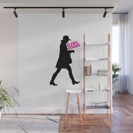 Girl Power Concept Print Wall Mural