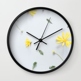 Daisies Are the Friendliest Flowers Wall Clock