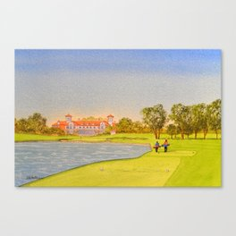 TPC Sawgrass Golf Course 18th Hole And Clubhouse Canvas Print