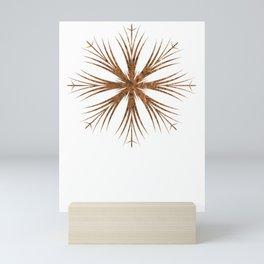 Bronze Snowflake Design Mini Art Print