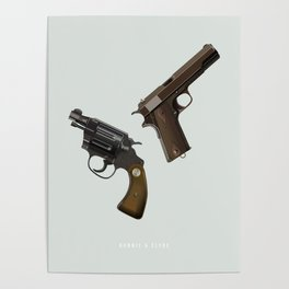 Bonnie and Clyde - Alternative Movie Poster Poster