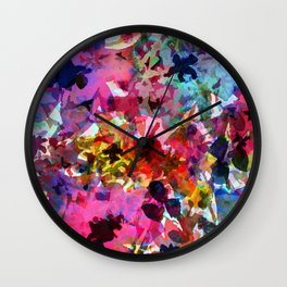 Summer Garden Batik Wall Clock